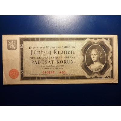 50 korun 1940 A05 neperforováno