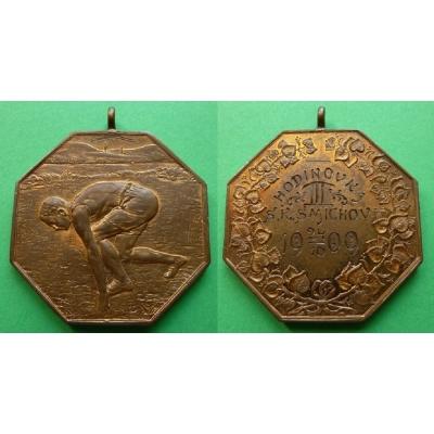 SK SMÍCHOV, medaile za III. místo v hodinovce 1909