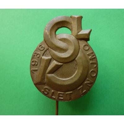 Znojmo - sokolský slet 1936, odznak