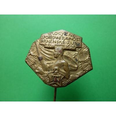 Sokol Brno - slavnosti 1926, odznak jehla