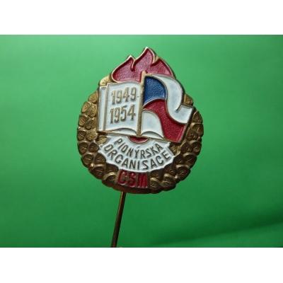 ČSM - Pionýrská organisace 1954, odznak jehla