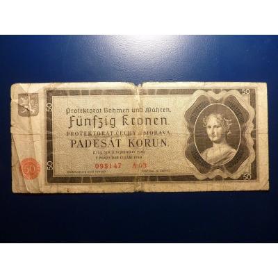 50 korun 1940 A03 neperforováno