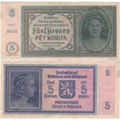 5 korun 1940