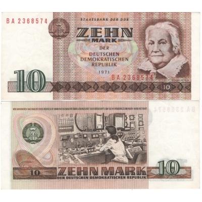 Východní Německo - bankovka 10 marek 1971