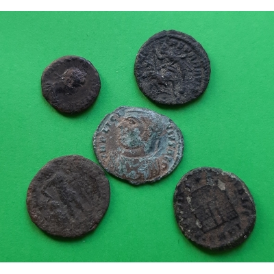 Konvolut 5 x antická mince