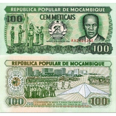 Mosambik - bankovka 100 Meticais 1983 UNC