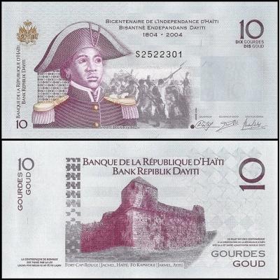 Haiti - bankovka 10 gourdes 2014 UNC