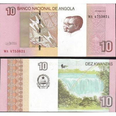 Angola - bankovka 10 Kwanzas 2012 aUNC