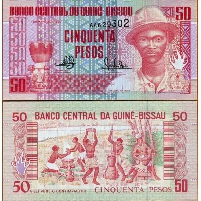 Guinea-Bissau - bankovka 50 pesos 1990 UNC