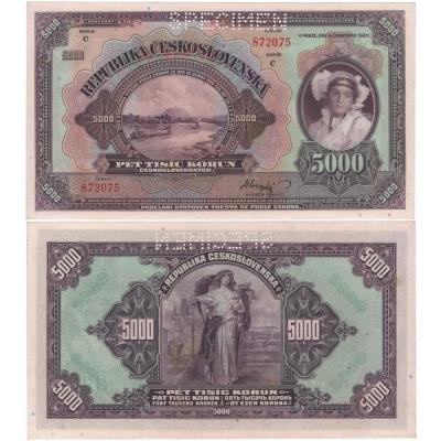5 000 korun 1920, série C