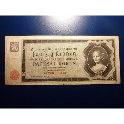 50 korun 1940 A07 neperforováno