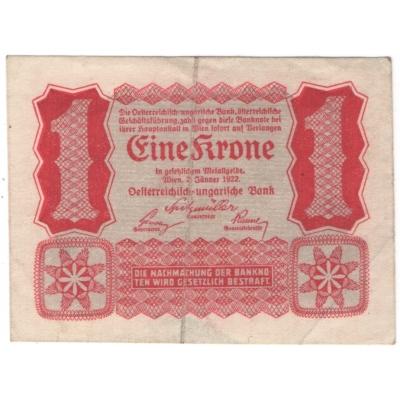 Rakousko - bankovka 1 koruna 1922