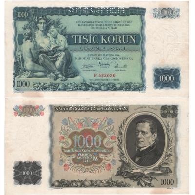 1000 korun 1934, série F