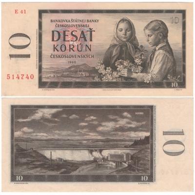 Tschechoslowakei - 10 Kronen-Banknote , 1960