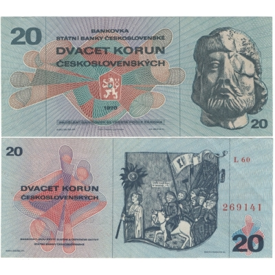 20 korun 1970, série L