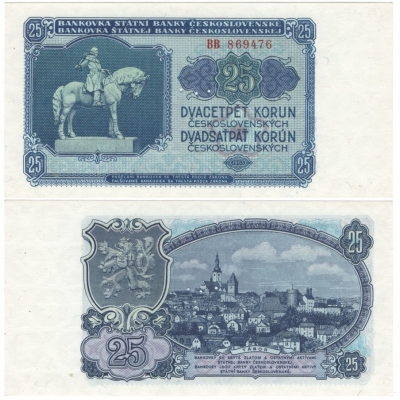 25 korun 1953, série BB, UNC, 3MD