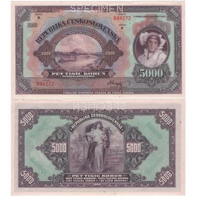 5 000 korun 1920, série B
