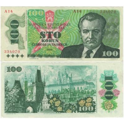 100 korun 1989 série A14