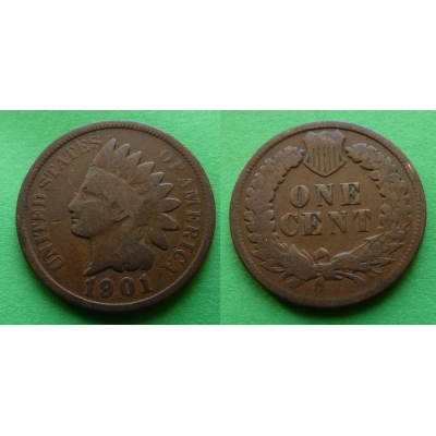 Spojené státy americké - 1 cent 1901, Indian head