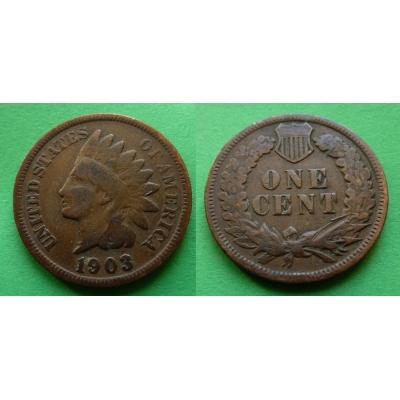 Spojené státy americké - 1 cent 1903, Indian head
