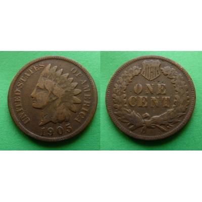 Spojené státy americké - 1 cent 1905, Indian head