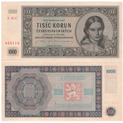 1000 Kčs 1945, série C