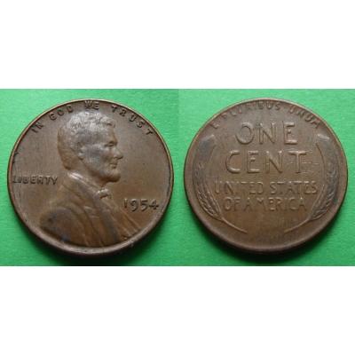 Spojené státy americké - 1 cent 1954