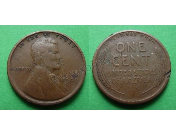 Spojené státy americké - 1 cent 1909