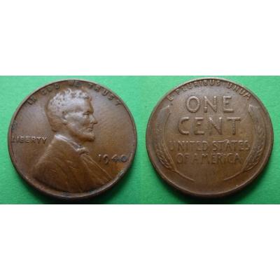 Spojené státy americké - 1 cent 1940
