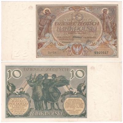 Polsko - bankovka 10 Zlotych 1929