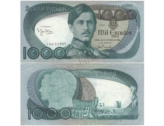 Portugalsko - bankovka 1000 escudos 1982