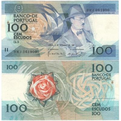 Portugalsko - bankovka 100 escudos 1987