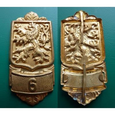 Československo - Ramenní odznak hasiče, Hasičská župa č. 6 - Hasičská župa Mělnická (Mělník), 1. republika, originál