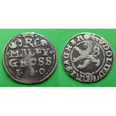 Malý groš Rudolfa II. 1587