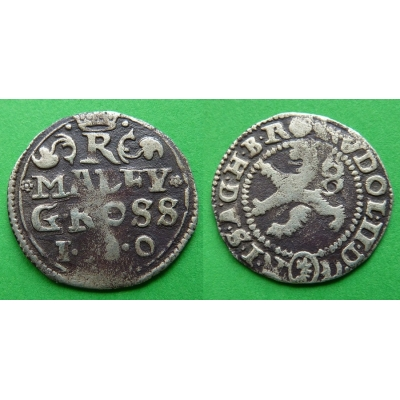 Rudolf II. - stříbrná mince Malý groš 1580, Kutná Hora