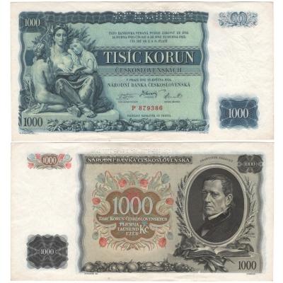 1000 korun 1934, série P