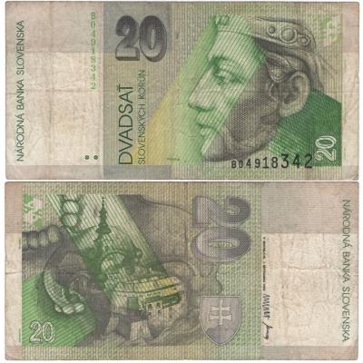 Slovensko - bankovka 20 korun 1993