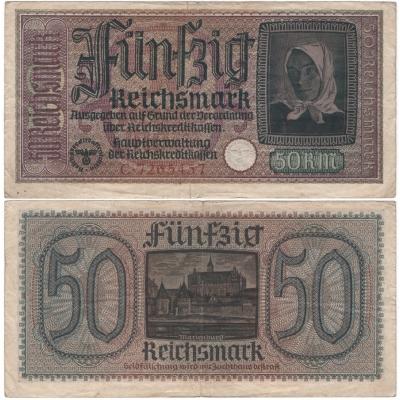 Německo - bankovka pro okupovaná území 50 marek 1939-1945