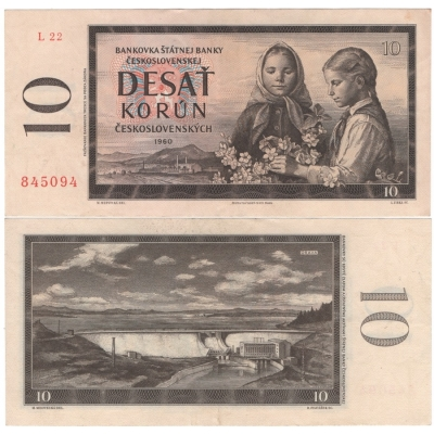 10 Korun 1960, série L22