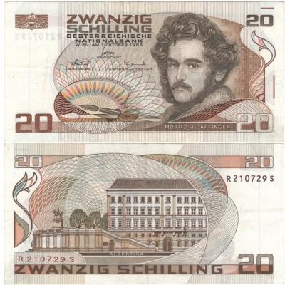 Rakousko - bankovka 20 Schilling 1986