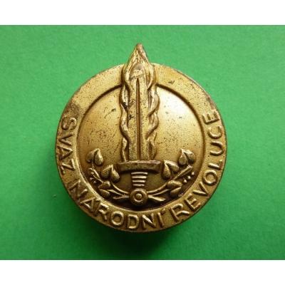 Czechoslovakia - badge of the Association of National Revolution 1945