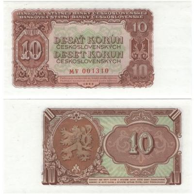 10 Korun 1953 UNC, série MV