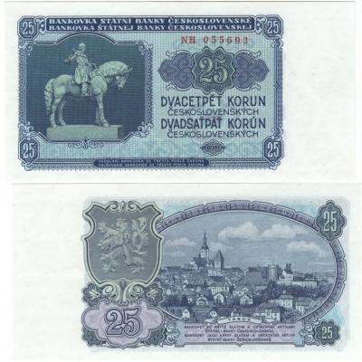 25 korun 1953 UNC, série NH