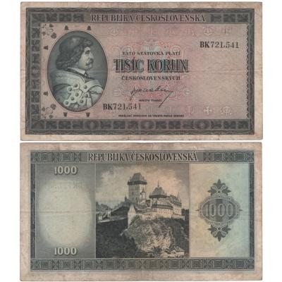 1000 korun 1945, Jiří z Poděbrad