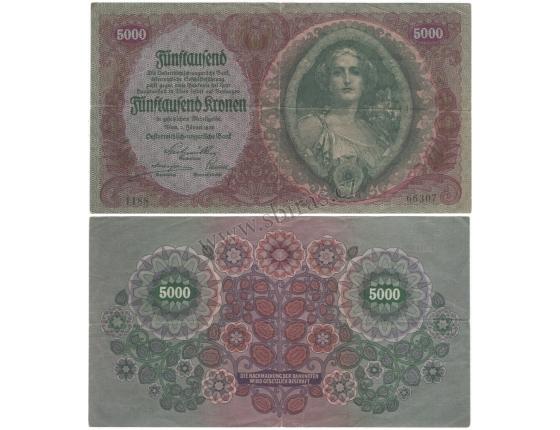 5000 korun 1922