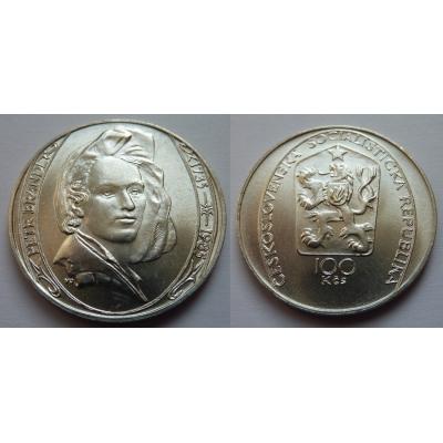 100 korun 1985 - Petr Brandl, 150 let výročí úmrtí