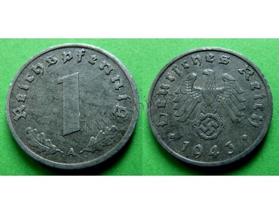 Nacistické Německo - 1 pfennig 1943 A