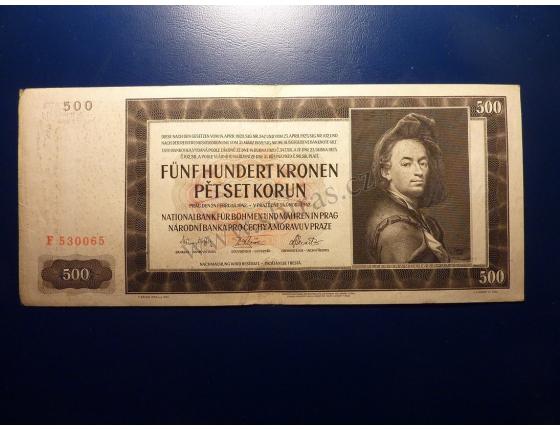 500 korun 1942 F