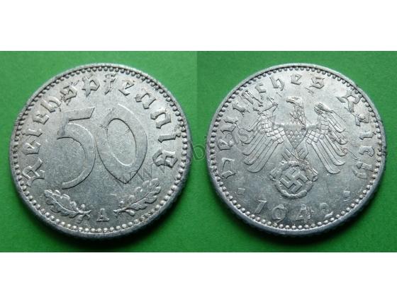 Nacistické Německo - 50 pfennig 1942 A