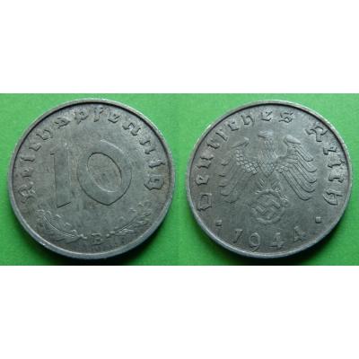 Nacistické Německo - 10 pfennig 1944 B